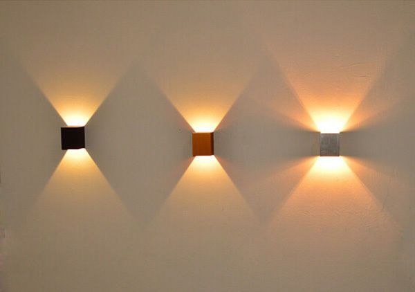 3W Simple Up And Down Side Aluminum Square LED Wall Light 110-220V | Wall  lights, Led wall lights, Led light design