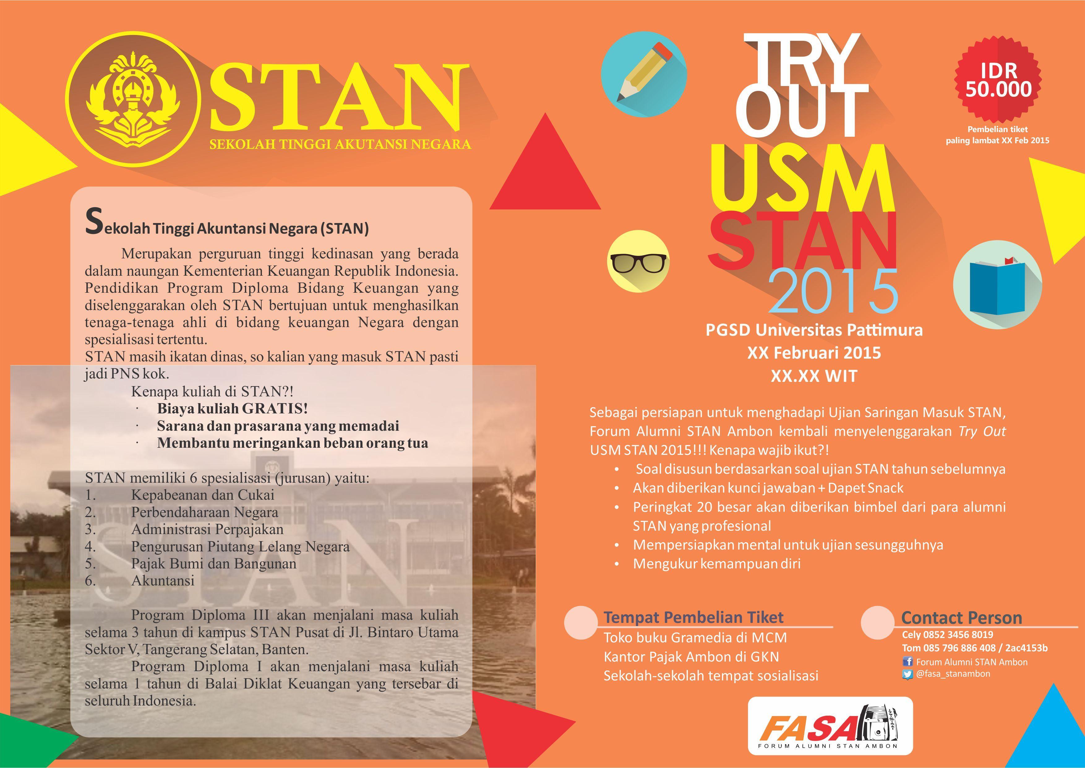 Brochure Template For Stan Pendidikan Guru Keuangan