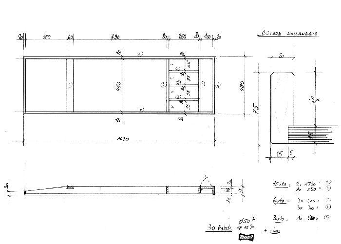 billard hollandais plan et mesures wooden toys outdoor games wooden toys toys. Black Bedroom Furniture Sets. Home Design Ideas