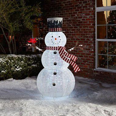 outdoor christmas dcor members mark 72 pop up snowman with cardinal sams club