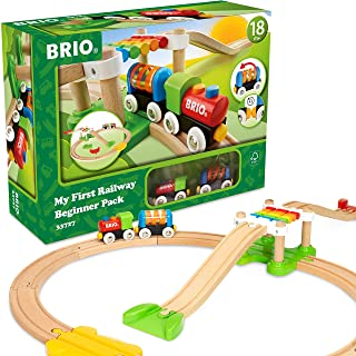 Amazon Com Brio Beginner Set Toys Games Train Sets For Toddlers Wooden Toy Train Toy Trains Set