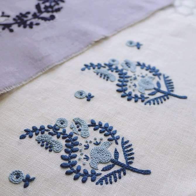 Yumiko Higuchi | embroidery items | Bordado, Bordado jacobino ...