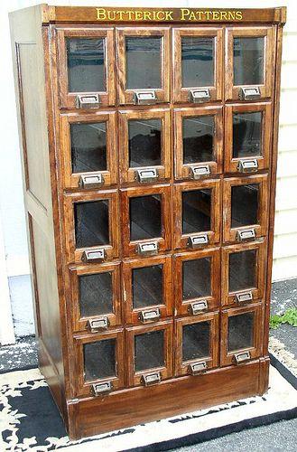 Butterick Pattern Cabinet in 2019  Steampunk  Cabinet