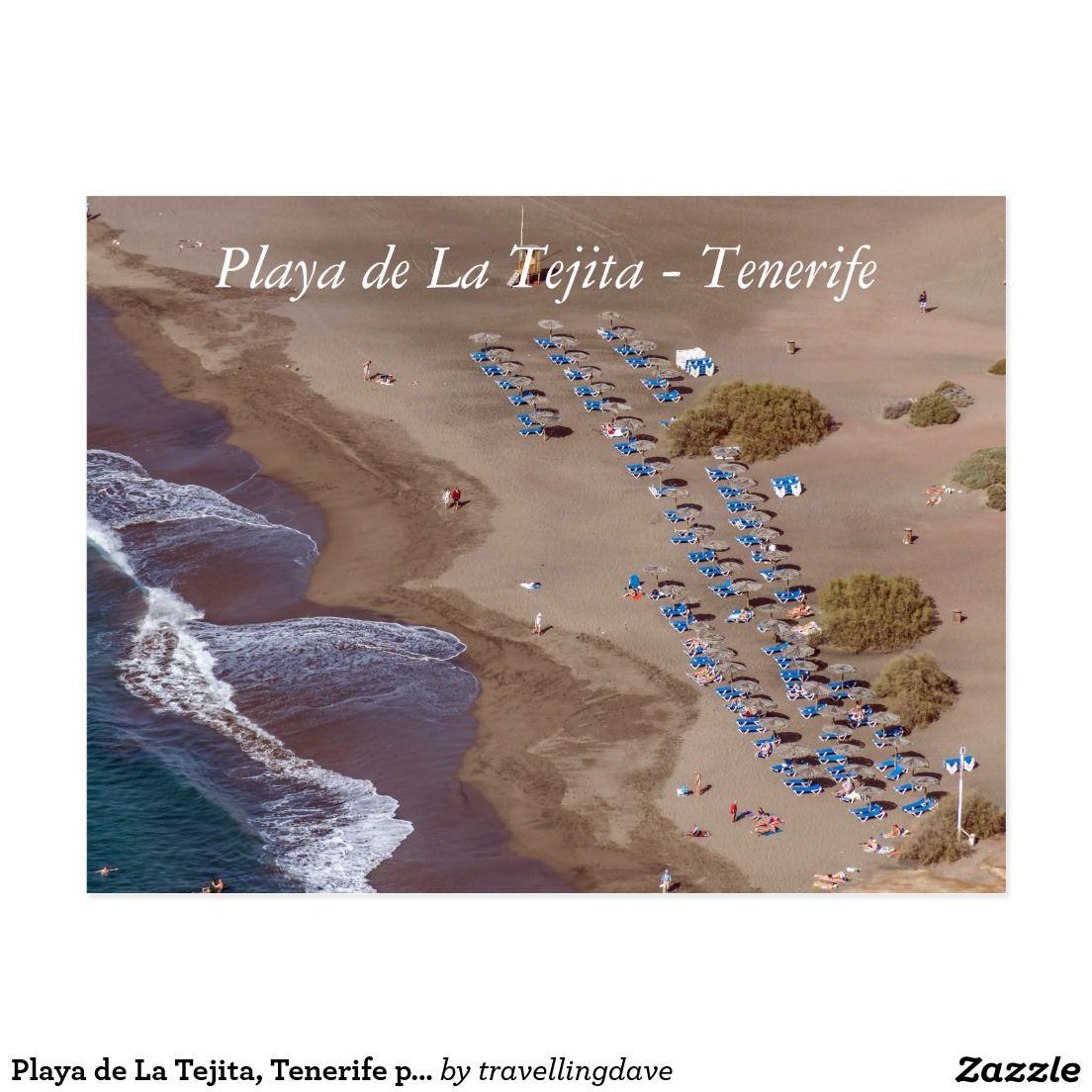 Playa de La Tejita, Tenerife postcard
