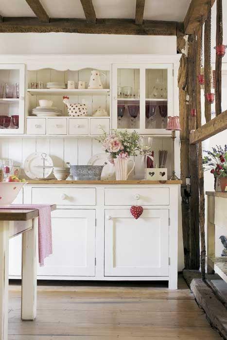 Küchenschrank, weiß, Landhausstil, Anrichte, Buffetschrank