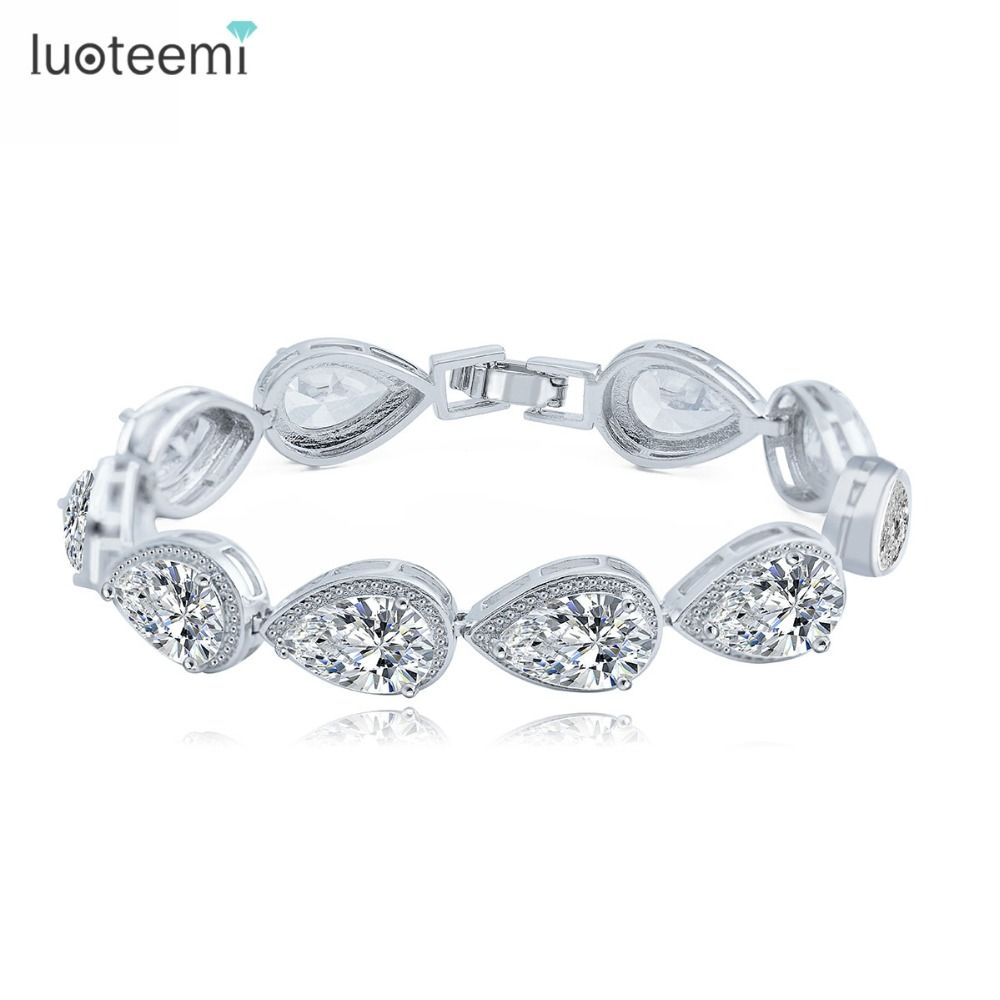 Luoteemi fashion color elegant women water drop shaped