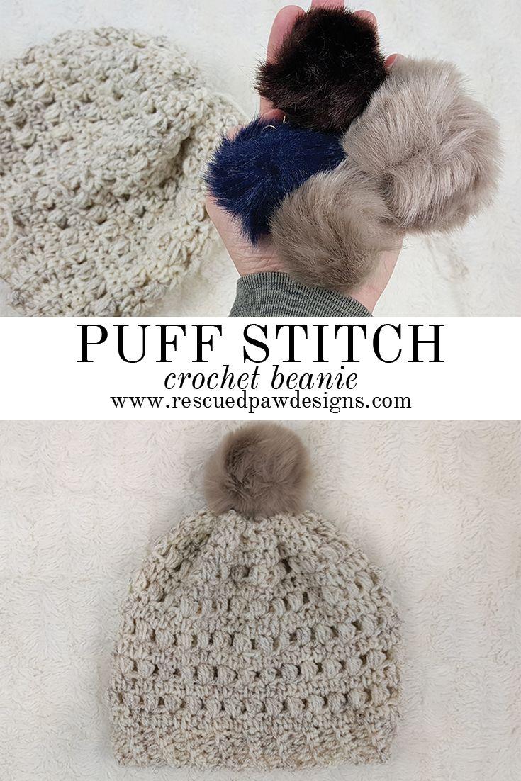 Crochet Puff Stitch Beanie - Free Pattern   Pinterest ...