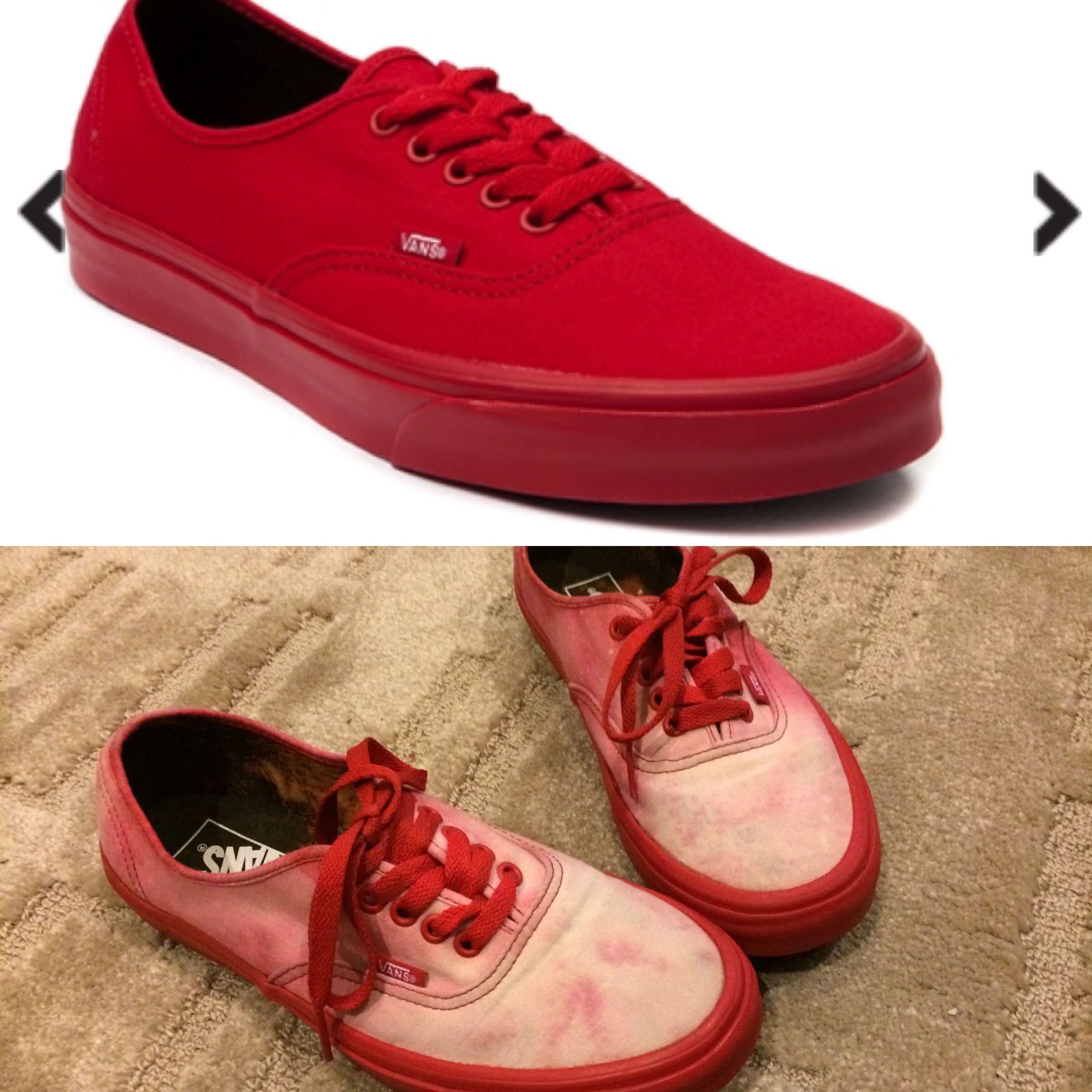dc91e4e37c90 All Red Vans Bleached