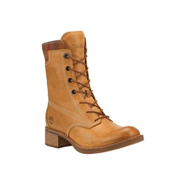 ac7470adf911 Women s Timberland Whittemore Fabric and Leather Lace-Up Boot Casual ( 220)  ❤ liked on Polyvore featuring shoes