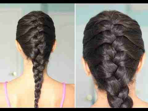 Single French Braid French Braid Hairstyles Braided Hairstyles Braiding Your Own Hair