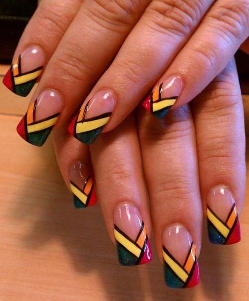 Funky French Nail Art Leave A Comment Nails Pinterest French