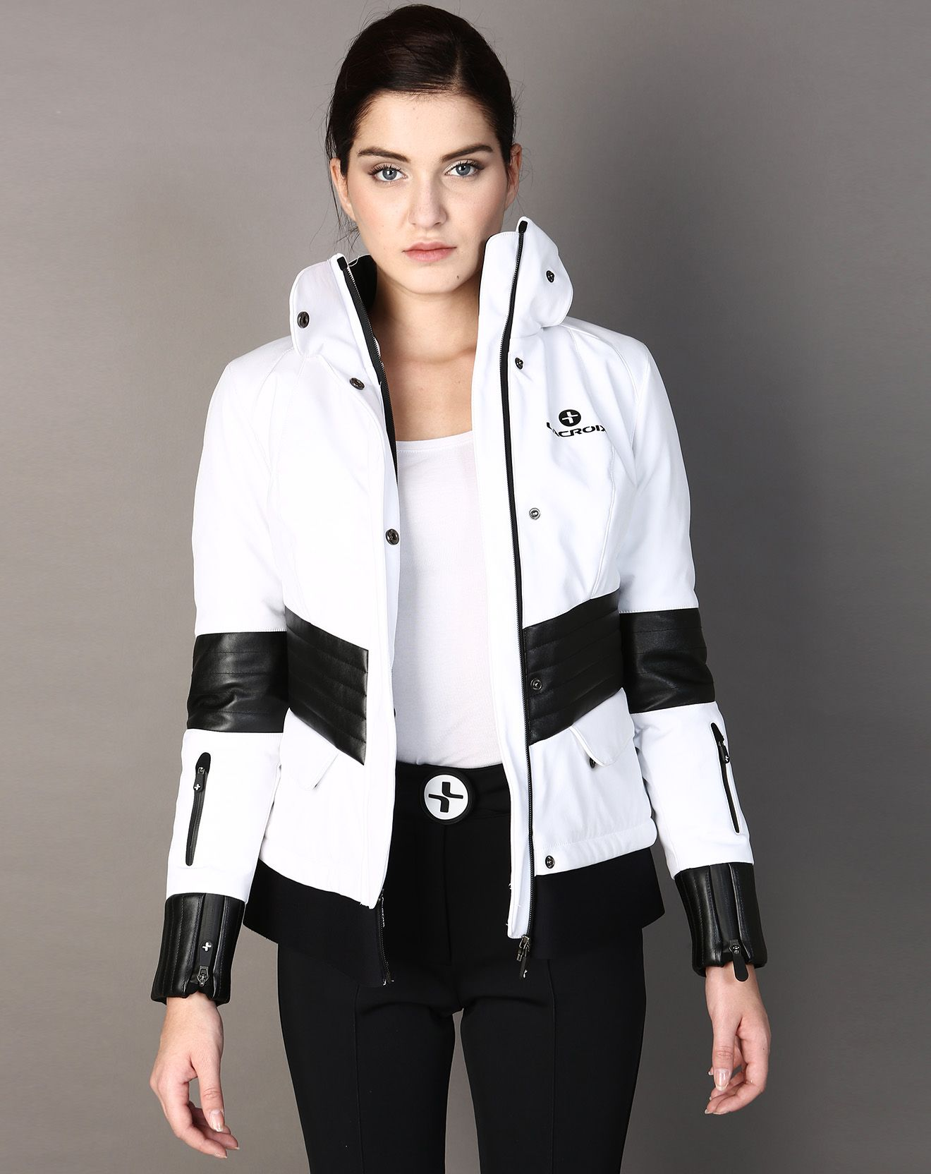 455€ - LACROIX Veste ski matskin aspen blanc et noir  12b485083
