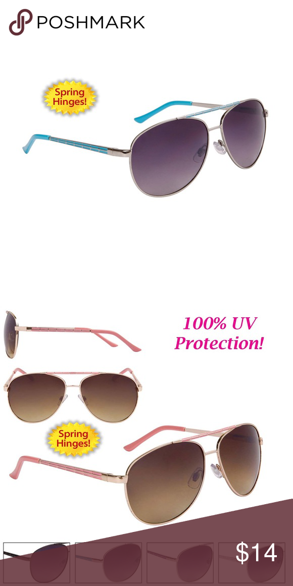 096f8cacb0f11 Women s Aviator Sunglasses. Blue frame. All new aviators with an attractive  temple pattern