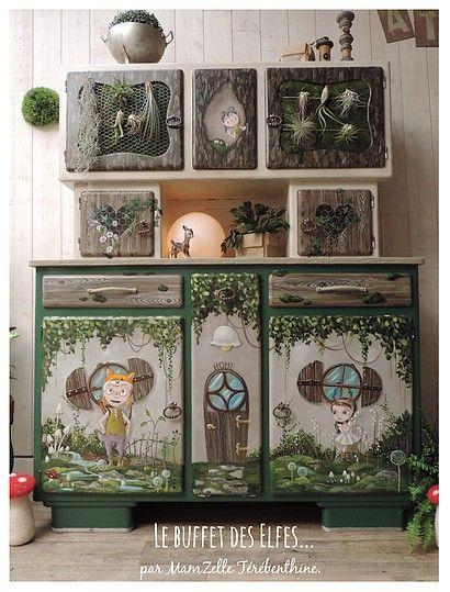 meubles peints, relooking meuble, peinture sur meuble, meuble enfant