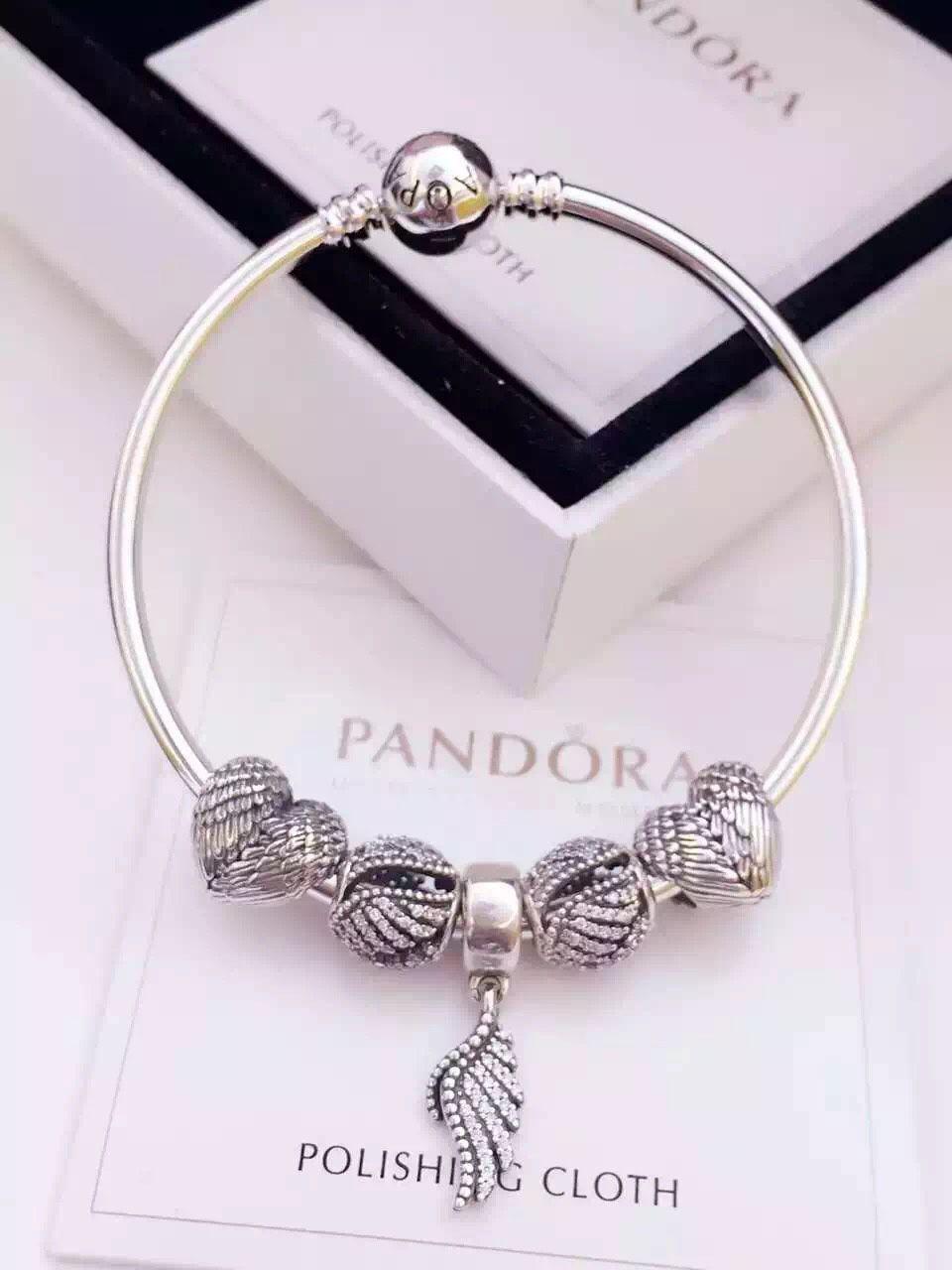 159 Pandora Bangle Charm Bracelet Silver Hot