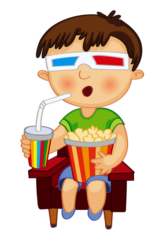 clip art kid watching 3d movie clock time pinterest art kids rh pinterest com Movie Night Clip Art watching a horror movie clipart