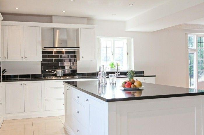 Black white shaker style kitchen kitchens Pinterest Shaker