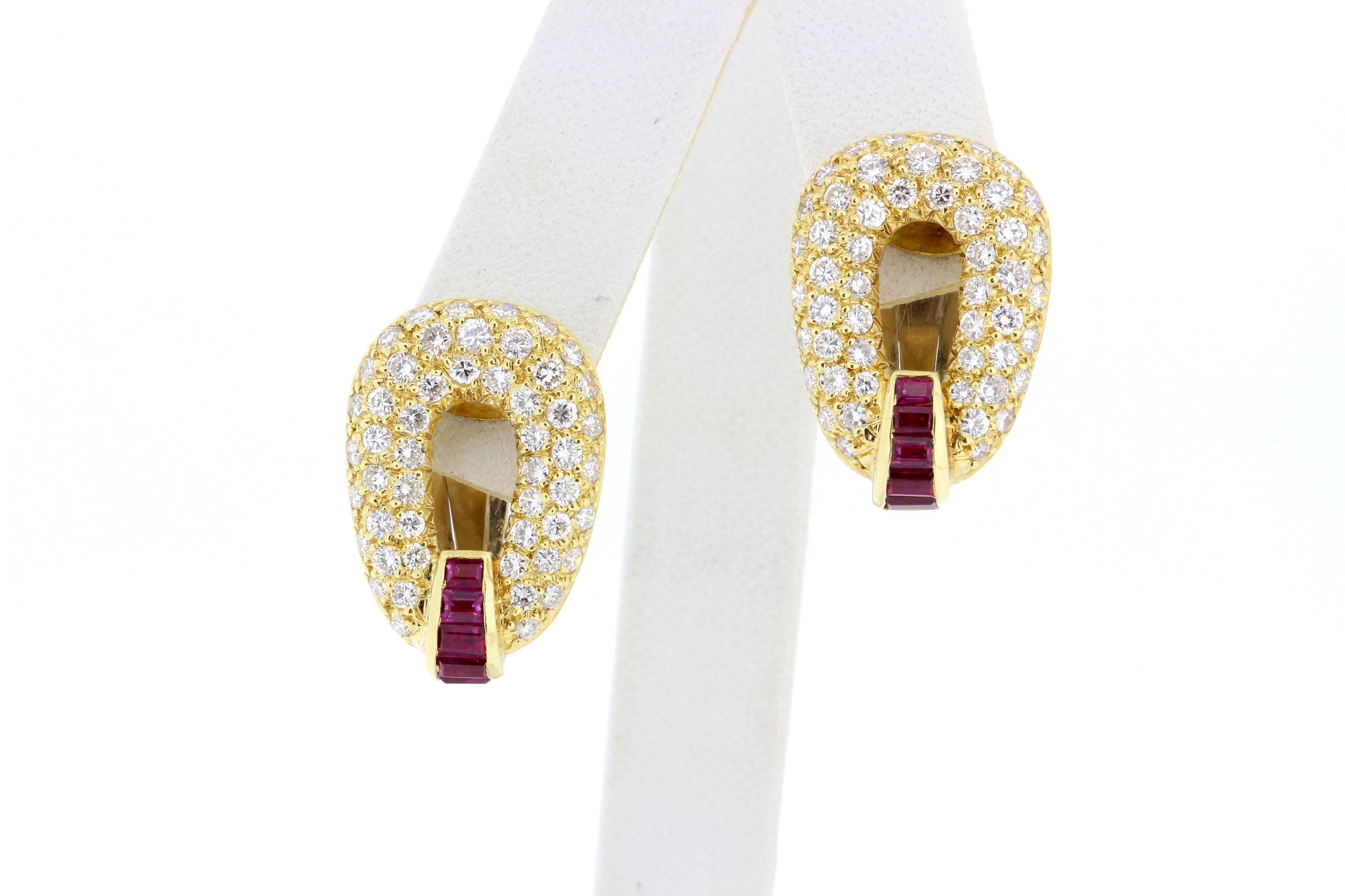 4fcc4eb73 18K Yellow Gold Citrine and Blue Topaz Oval Earrings Virginia Capri |  Products in 2019