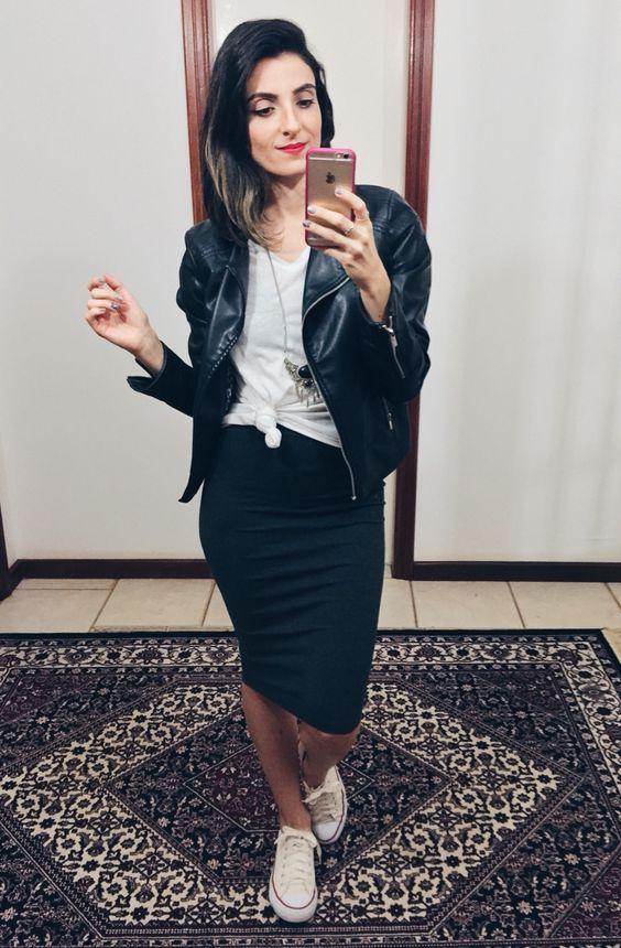 b53e06f64 16 Looks con falda y converse para días casuales en 2019