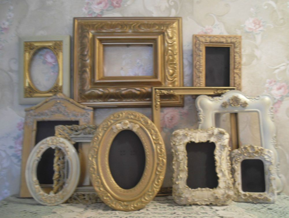 Ornate Open Picture Frames Gold~Cream Vintage Style~Wedding ...