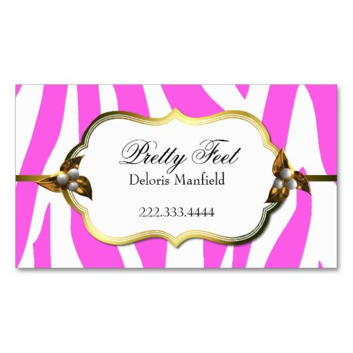 Pink Zebra Print Loyalty Business Card Zazzle Com Printing Business Cards Loyalty Card Template Customer Loyalty Cards