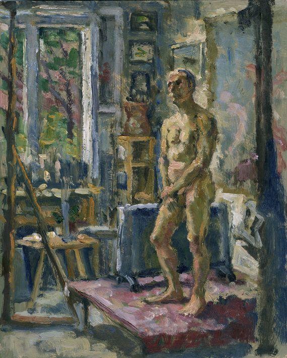 Interior In the Studio. Original Oil on Canvas by wickstromstudio