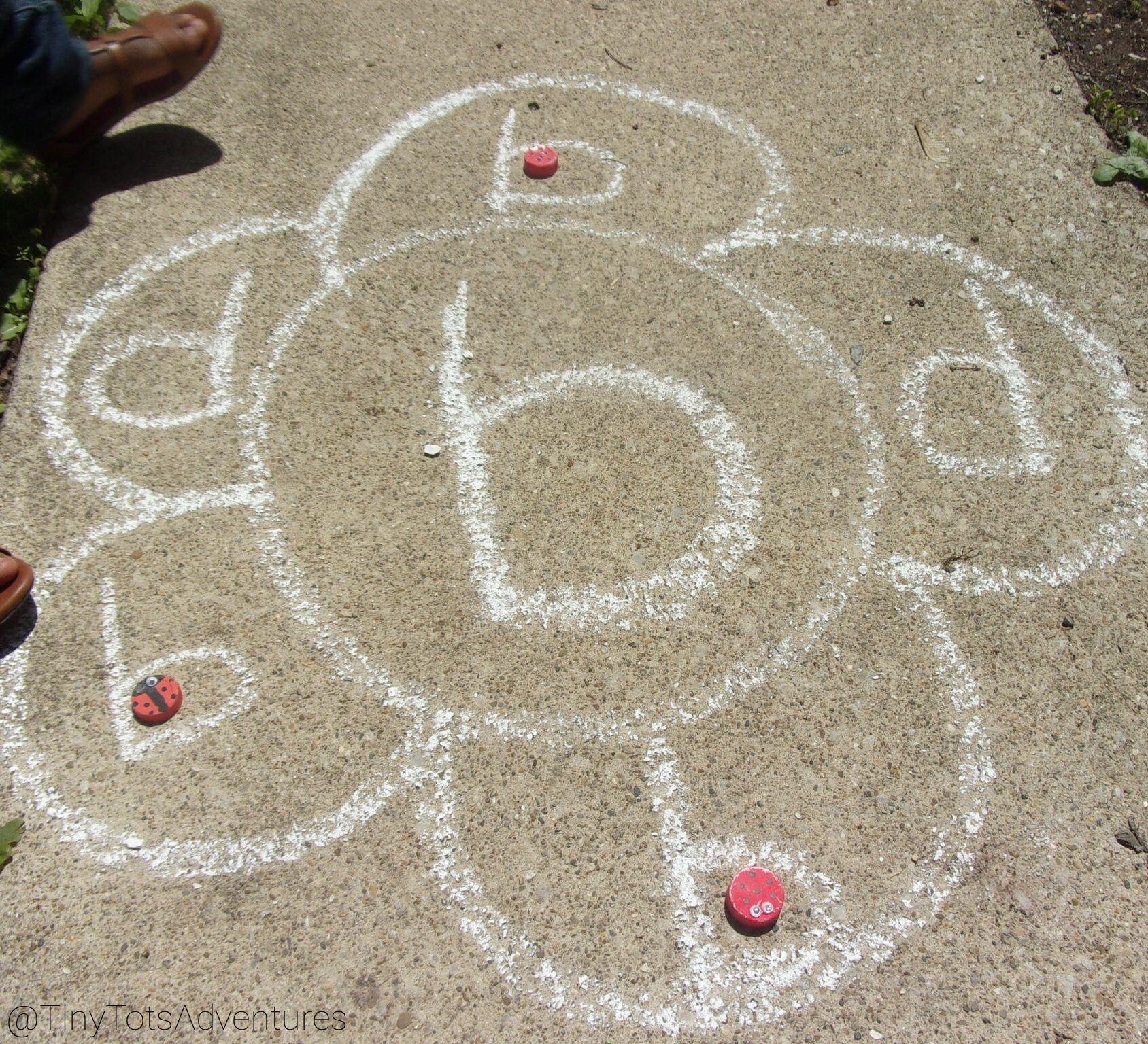 Chalk Art Flower Power Lowercase Letter Match