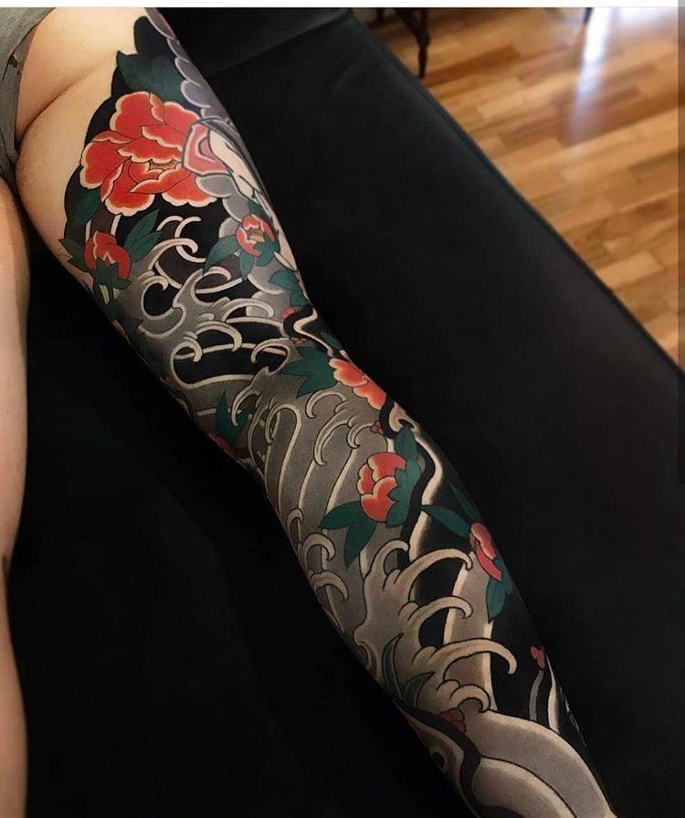 Japanese Art Japanesetattoo Tattoos Traditionaltattoo Japanese Tattoo Designs Leg Tattoos Japanese Leg Tattoo