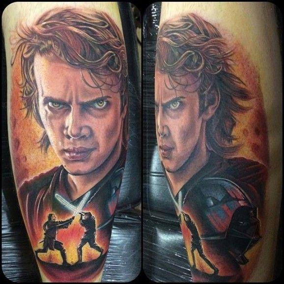 Anakin skywalker tattoo by chris jones character from for Luke skywalker tattoo