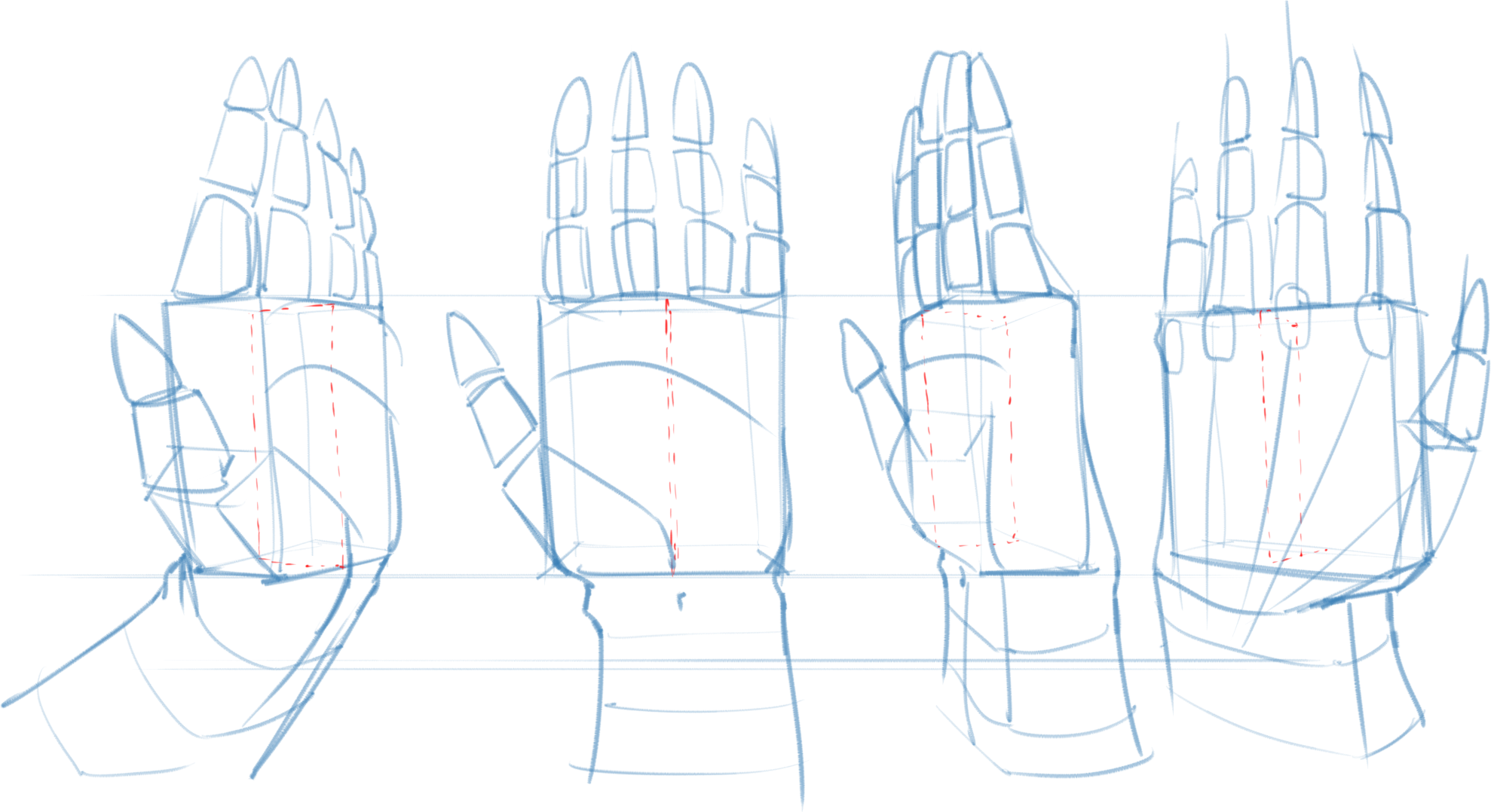 2 Ways To Draw Hands Anatomy Amp Forms