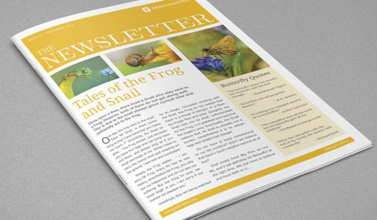 Indesign Newsletter Templates  Graphicdiffer  Newsletter Templates