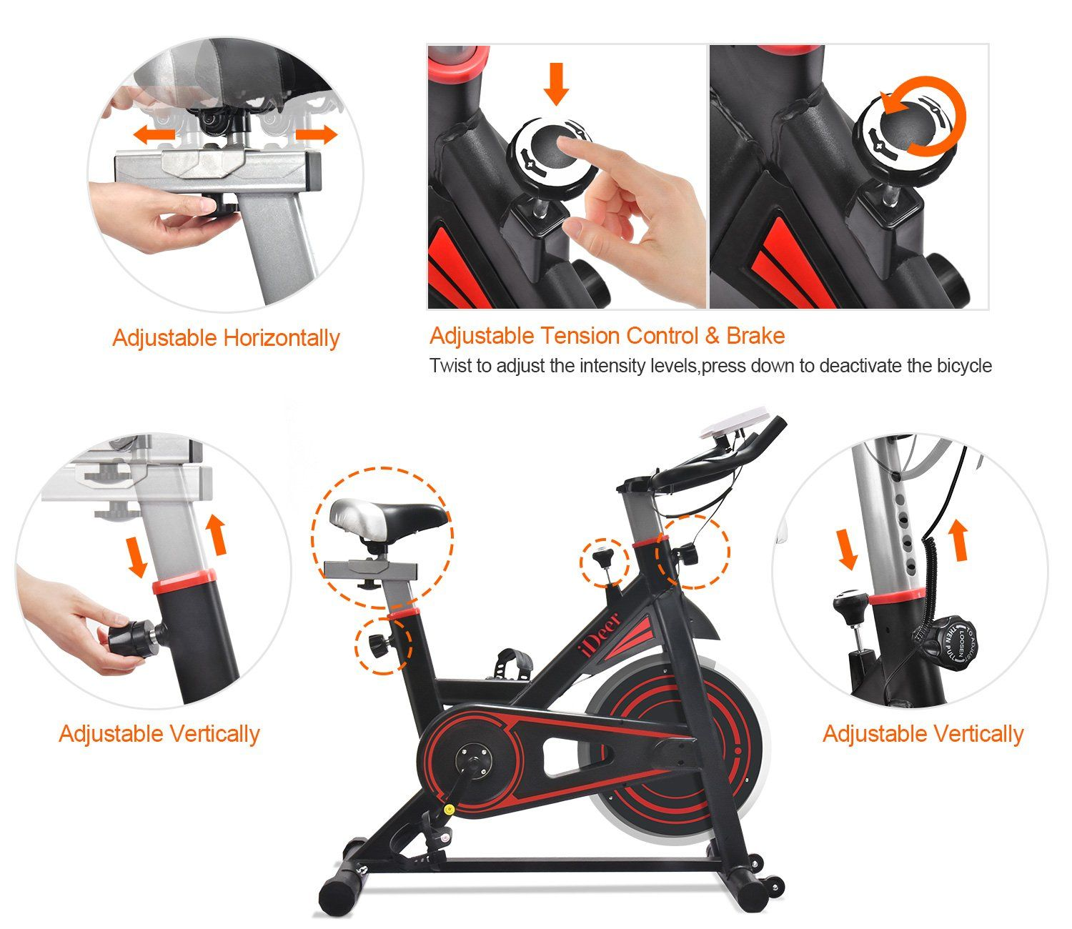 Astounding Ideer Exercise Bike Indoor Workout Cycling Bike Height Creativecarmelina Interior Chair Design Creativecarmelinacom