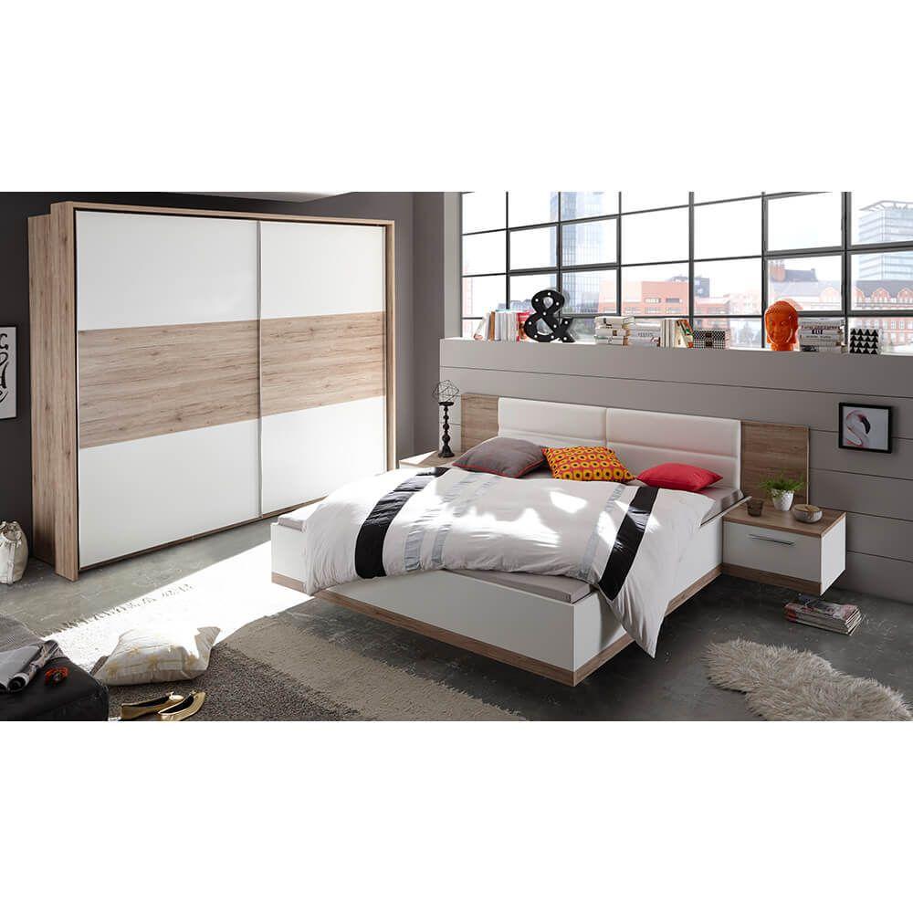 Schlafzimmer Manhattan Komplett Set Eiche Sanremo Weiß Jetzt ...