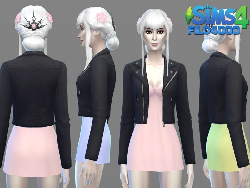 Sims 4 get together leather jacket cc