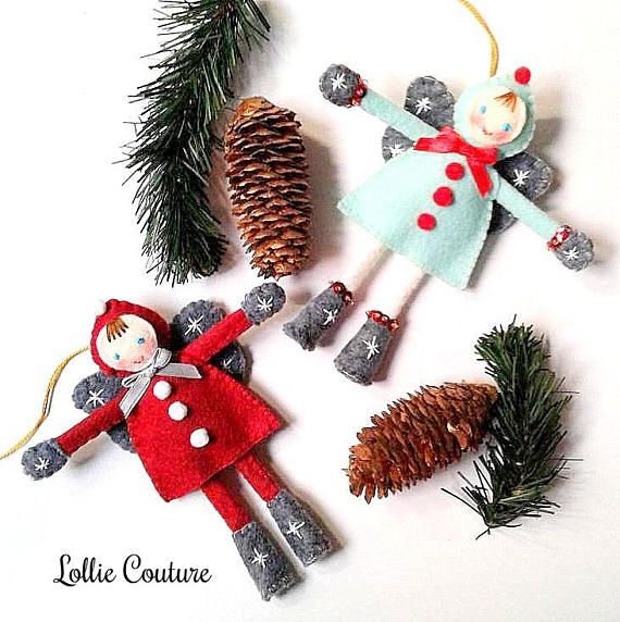 felt modern christmas ornaments modern holiday by lollie couture made in the usa modern christmas ornaments designed to add elegance and rich sty - Modern Christmas Ornaments