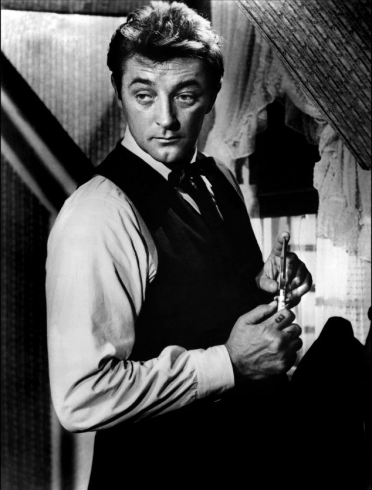 Robert Mitchum in Night of the Hunter, directed by Charles Laughton