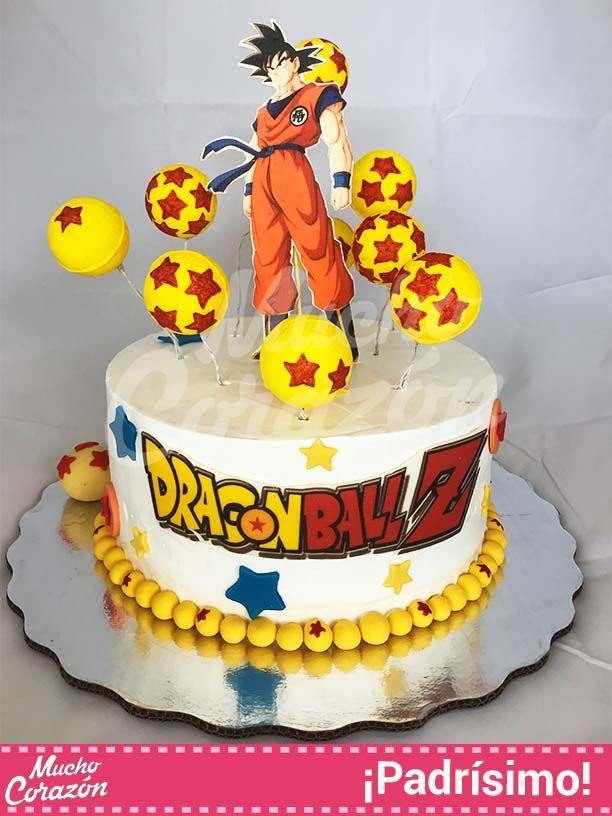 Pastel con gok de drag n ball z y un excelente dise o for Cuartos decorados de dragon ball z