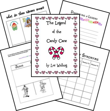 The Legend of the Candy Cane printables