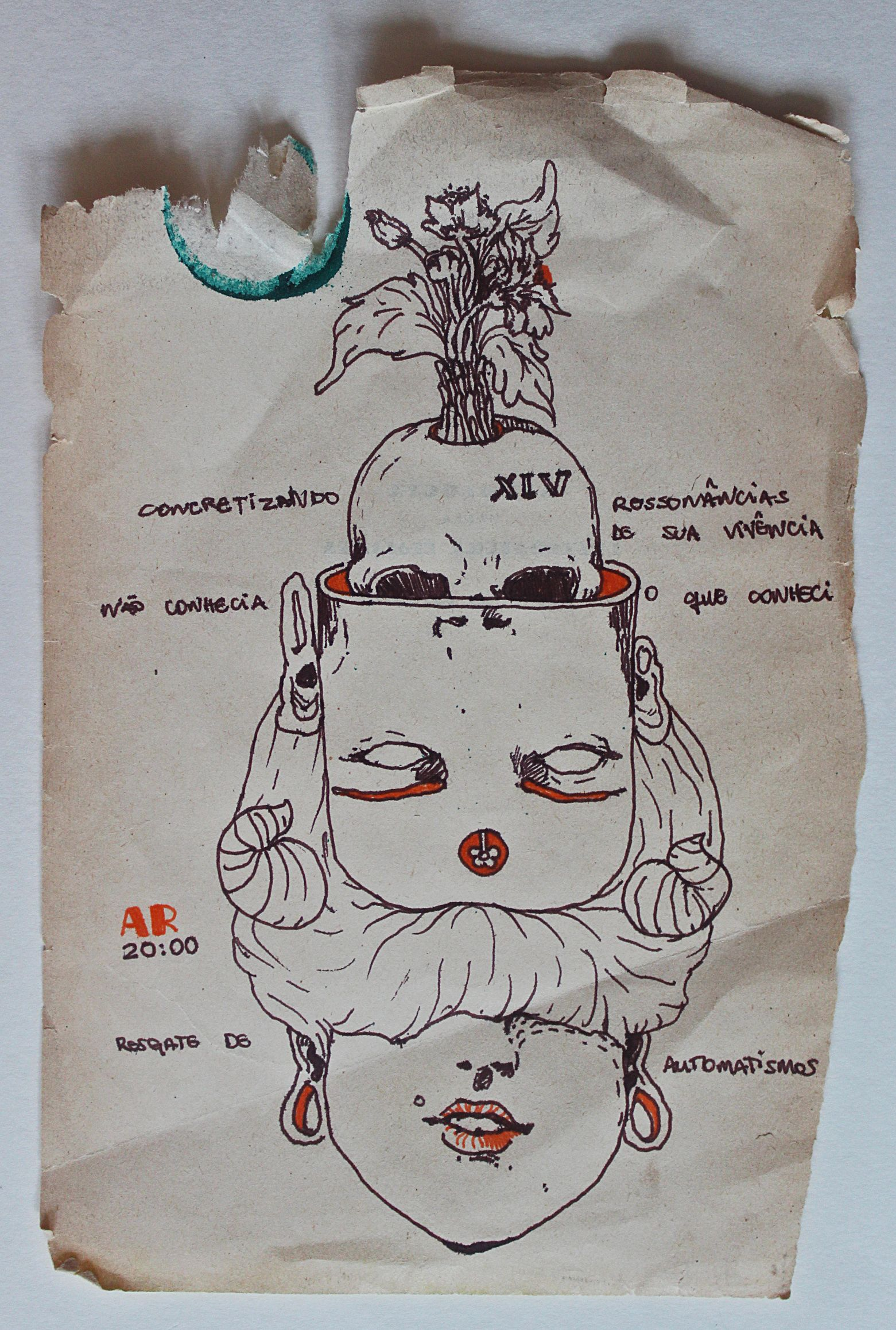 AR - De saudade verdadeira não se sofre 19 x 14 cm - Nanquim sobre papel 2014