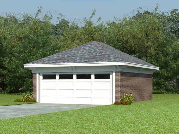 Double Garage, 006G0021 Garage plans, Double garage