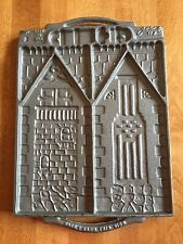 Vintage John Wright Usa Gingerbread House Double Sided