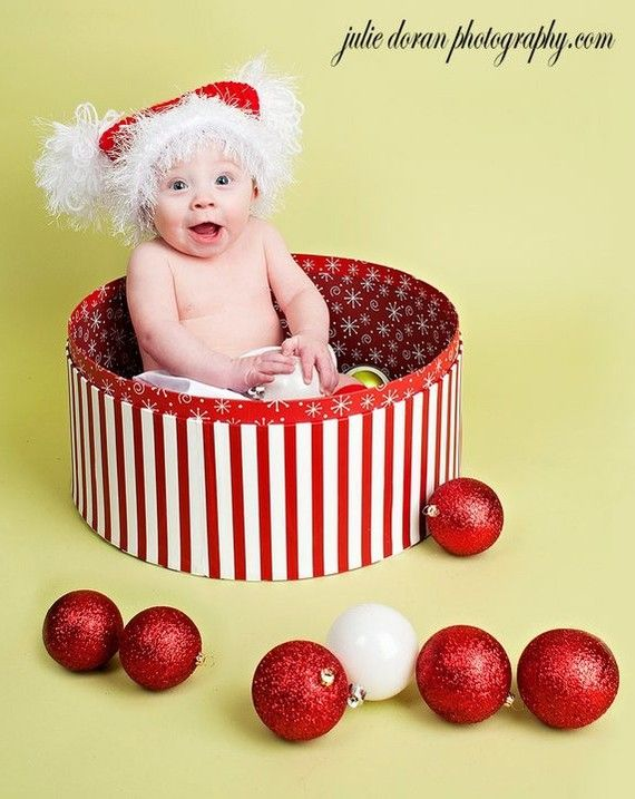 Christmas Hat Red Newborn Baby To Children Photography Prop