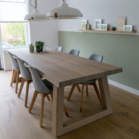 Angle eiken tafel design kitchen dinning table dining for Eiken design tafel