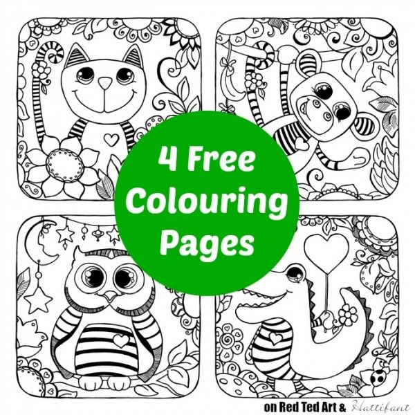 Cat Owl Colouring Pages Print Trace Turn Them Into Sun Catchers Red Ted Art Make Crafting With Kids Easy Fun Owl Coloring Pages Animal Coloring Pages Colouring Pages