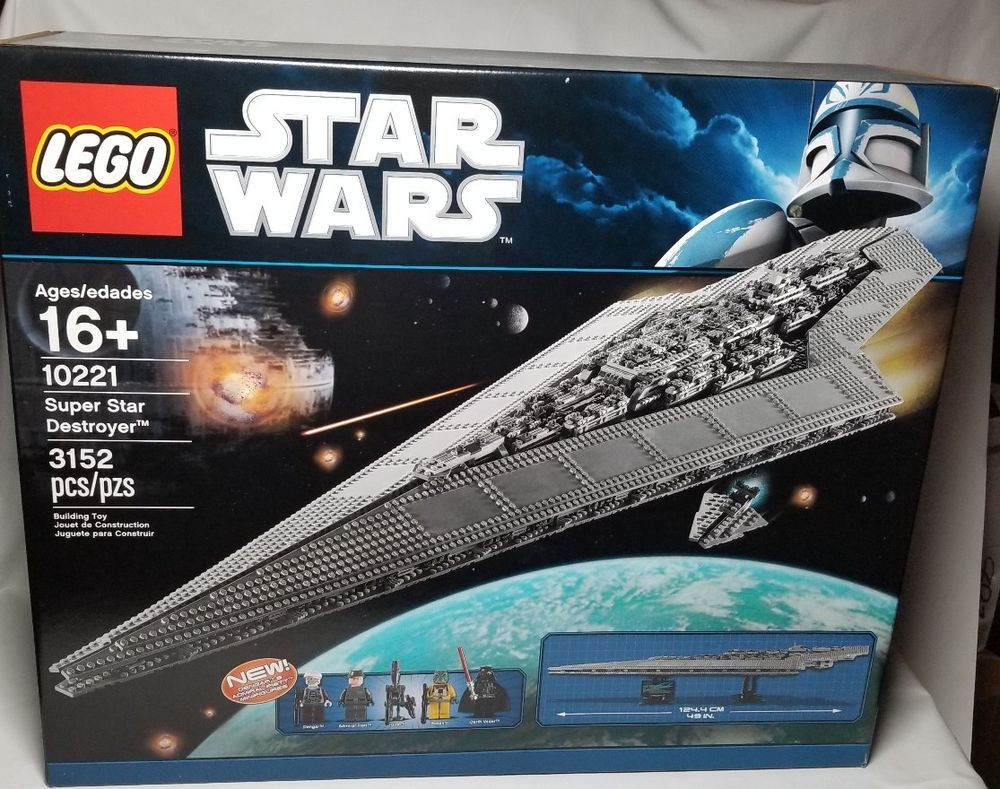 New Lego Figure Star Wars Admiral Piett 10221 Super Star