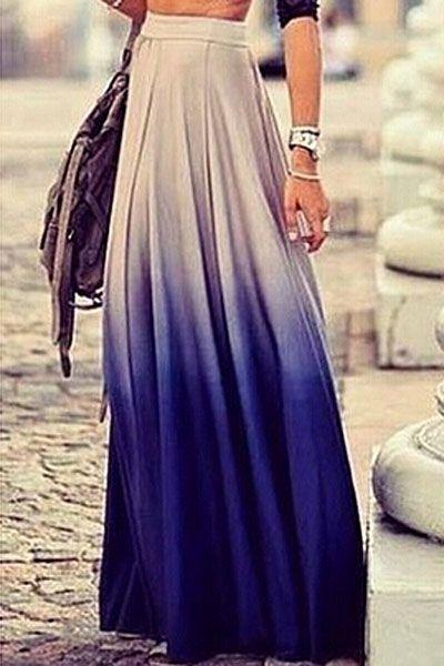 b1ebb0139 Ombre Long Skirt | Trend | Ropa, Moda y Ropa femenina