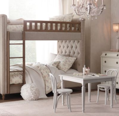 Chesterfield Tufted Bunk Bed Bunk Beds Girls Bedroom Bed