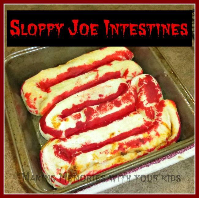 sloppy joe intestines #halloween #food Halloween Pinterest - pinterest halloween food ideas