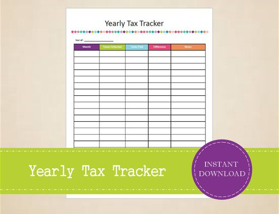 Yearly Tax Tracker Small Business Tax by MBucherConsulting Small