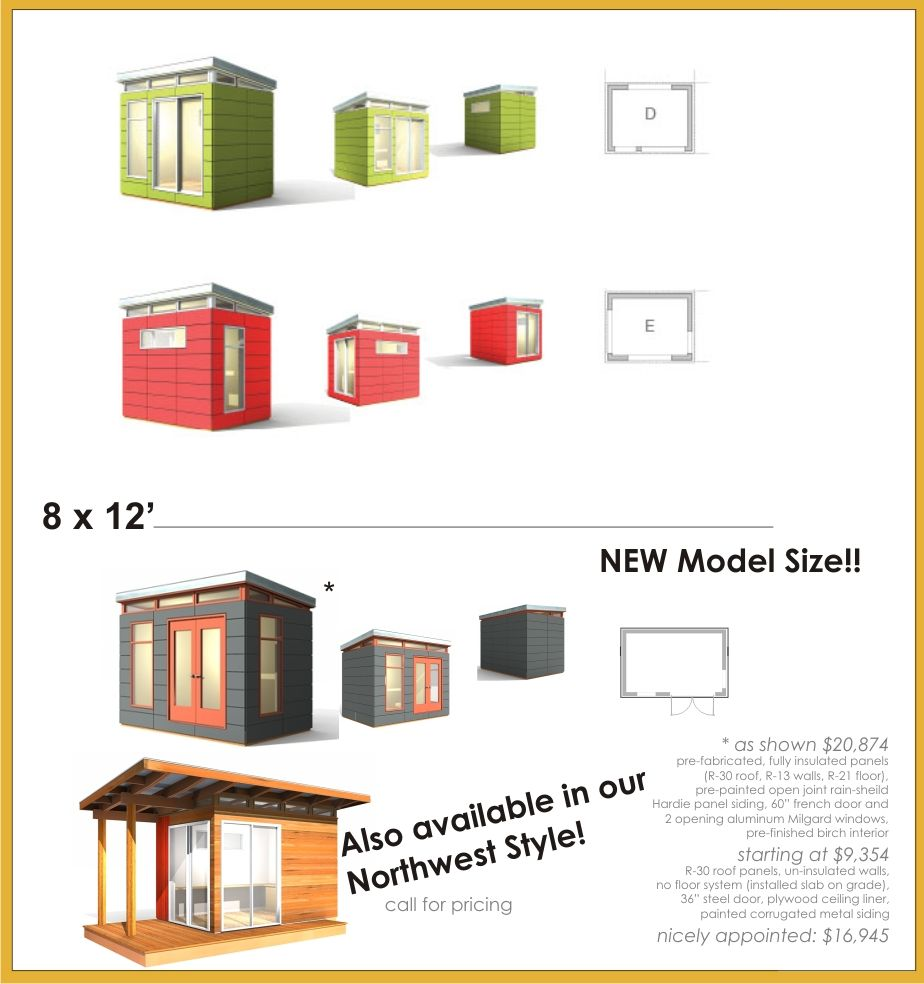 Modern shed design tools or man cave tbd